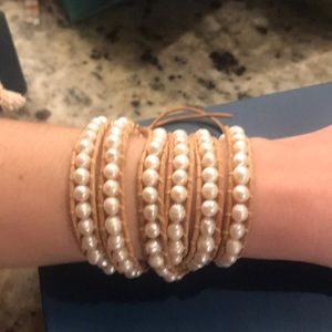 Victoria Emerson Freshwater Pearls wrap bracelet